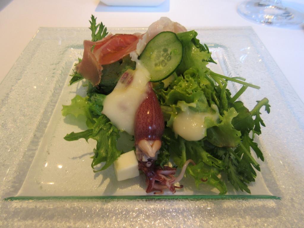 冷たい前菜サラダ