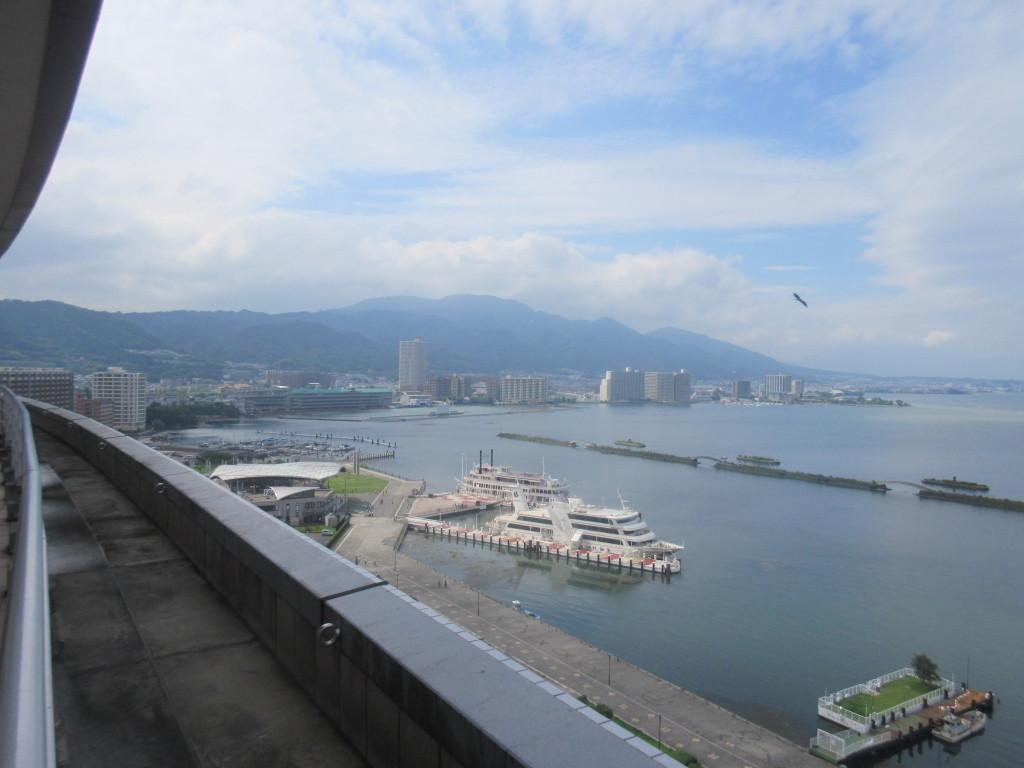 琵琶湖ホテル13階からの景色