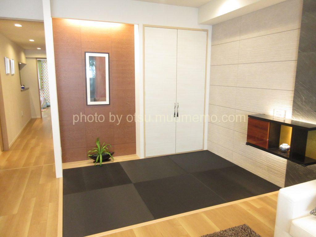 シャリエ大津中央モデルルームの畳コーナー