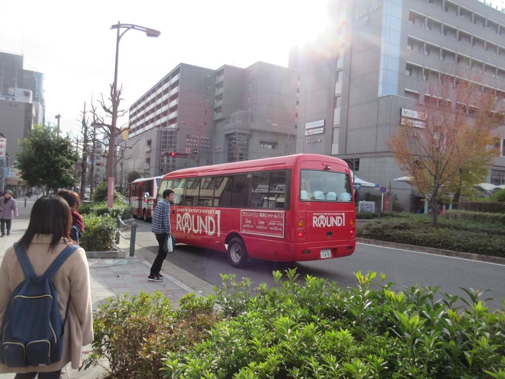 ラウンドワンのバス