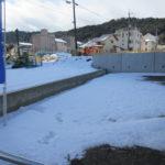2016年1月20日大津駅周辺に雪が積もっていました