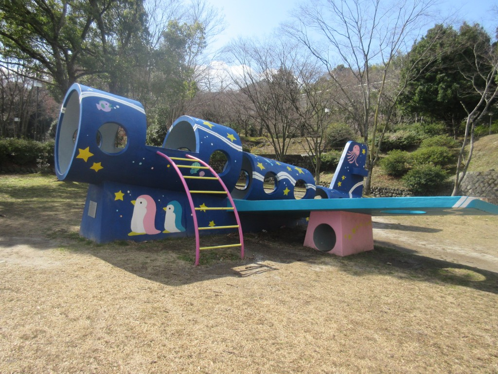 皇子が丘公園の飛行機型の遊具