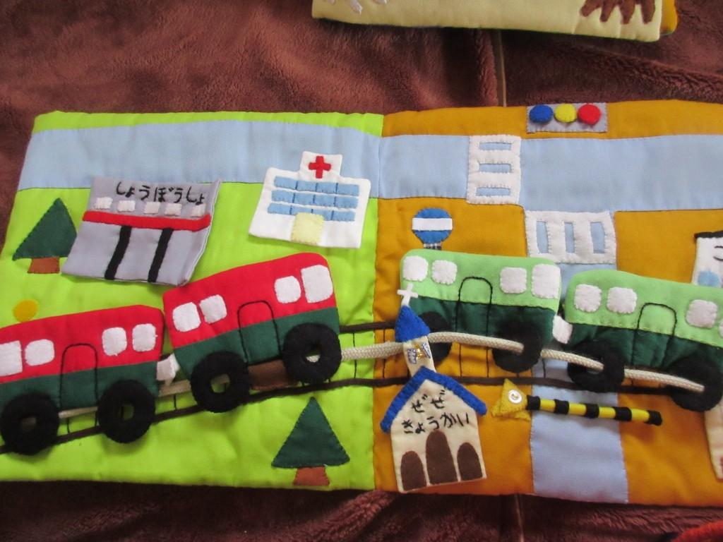 京阪電車の布絵本