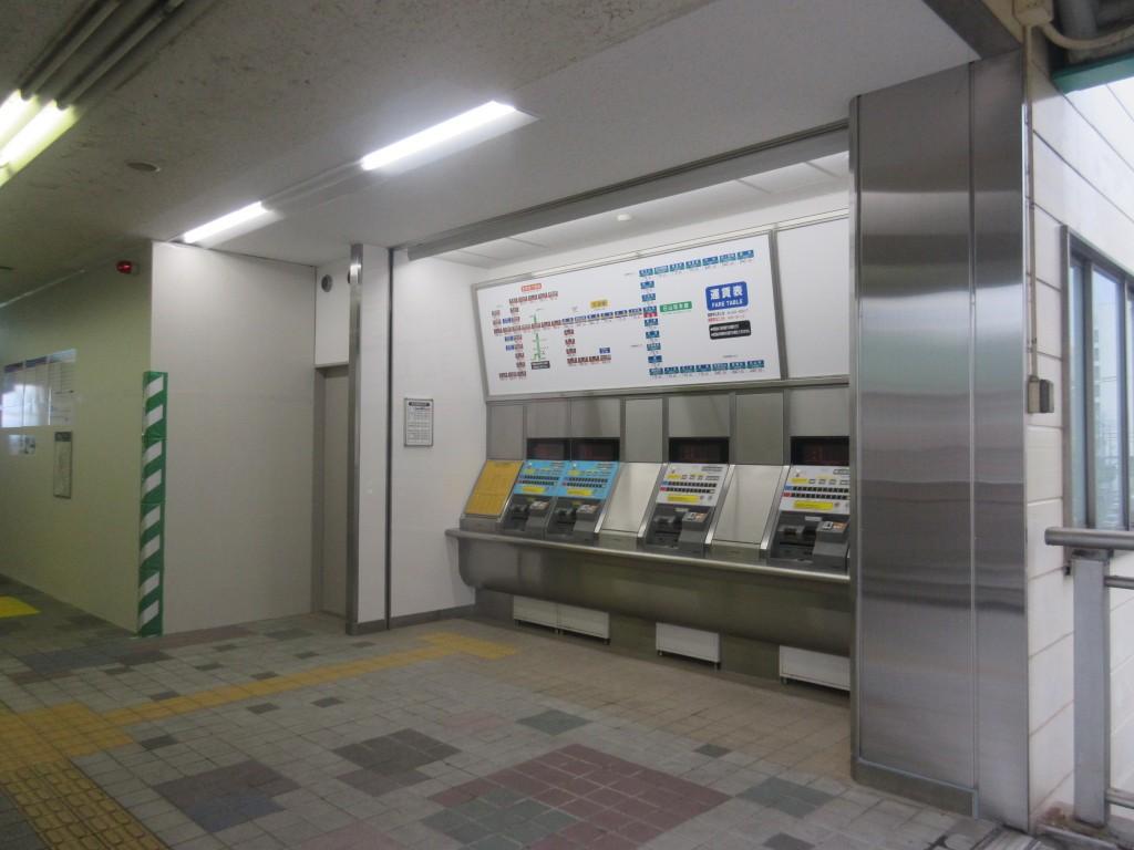 浜大津駅の新しい券売機