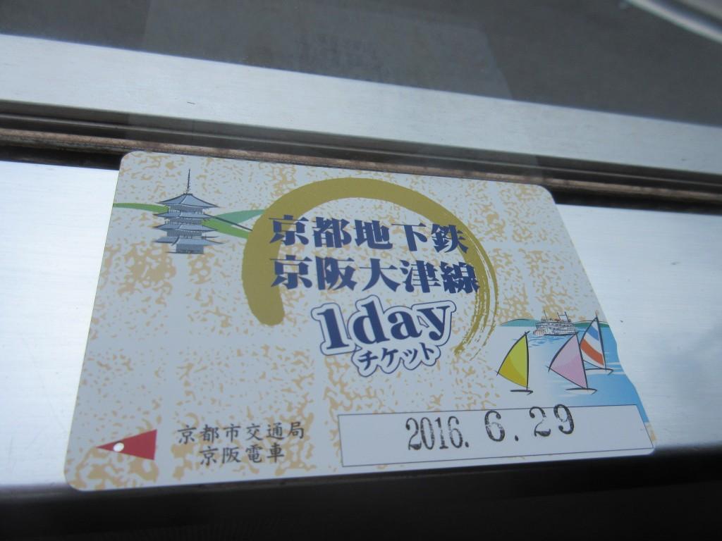 京都地下鉄京阪大津線1dayチケット