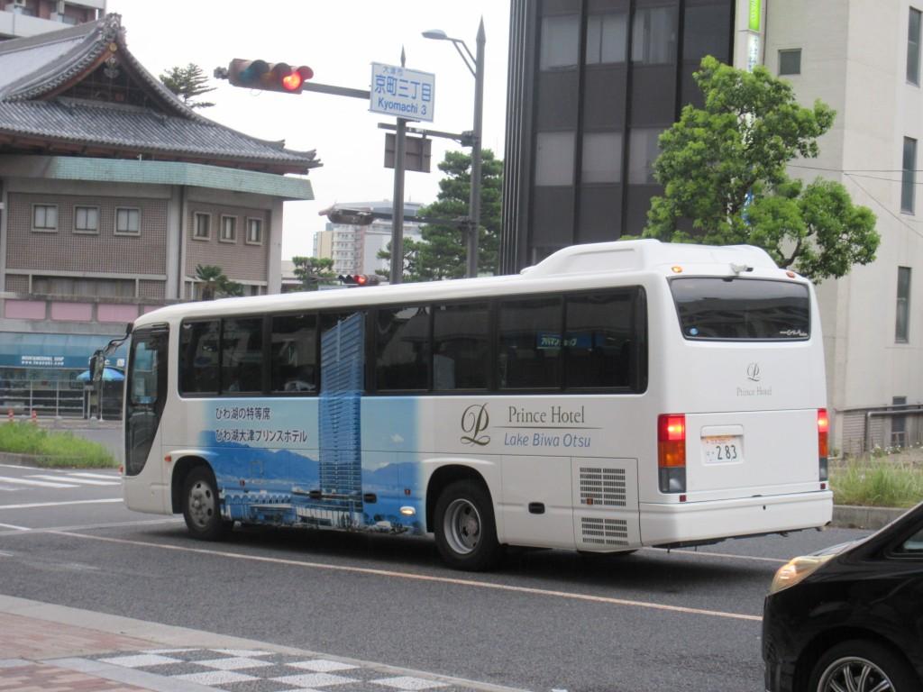 びわ湖大津プリンスホテルのバス