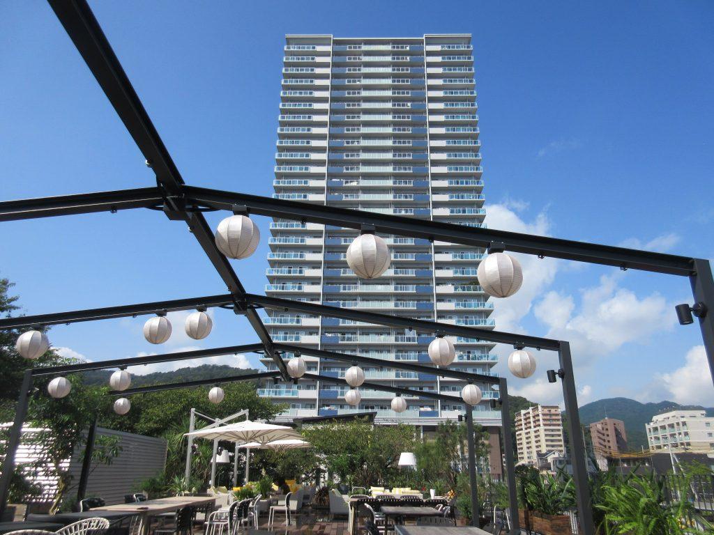 大津駅テラスから見たマンション