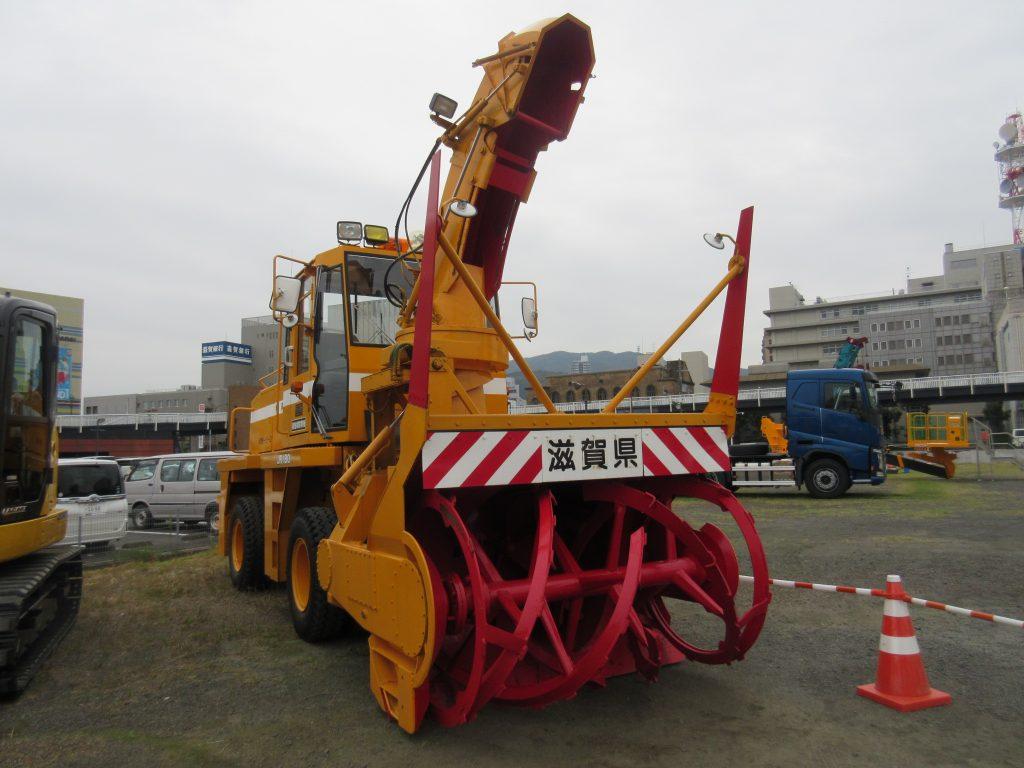 滋賀県の除雪車