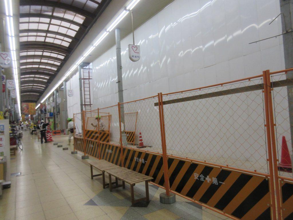 西友跡地の工事現場