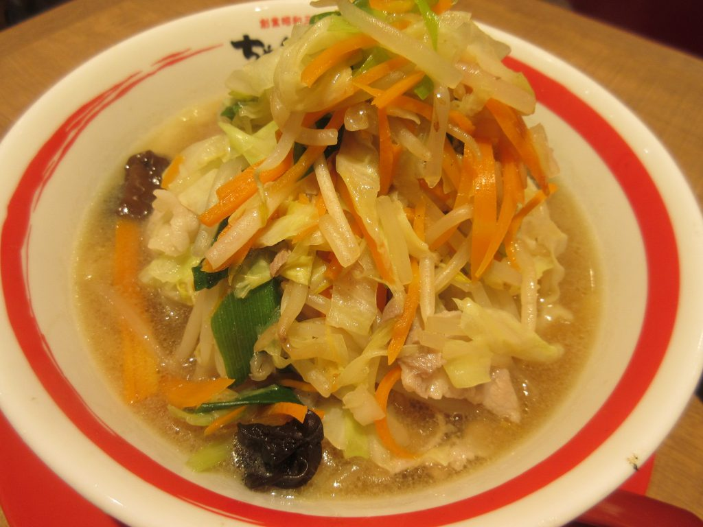 ちゃんぽん亭の野菜1日盛り