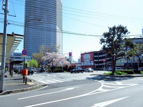 皇子山駅から見えるイオン
