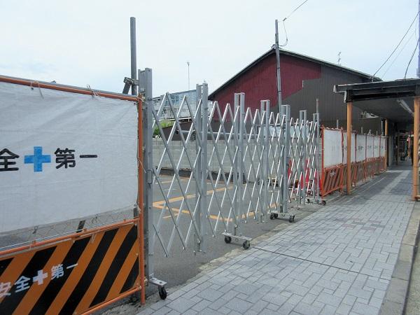 大津駅前商店街の駐車場跡地