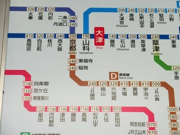 JR大津駅の路線図
