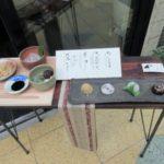 菱屋町商店街「茶菓 山川」の餅小豆とわらび餅