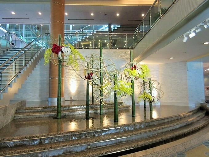 びわ湖大津プリンスホテルのロビーの植物