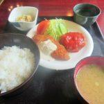 京阪石場駅近くの喫茶店「マタリ」の日替わり定食(600円)