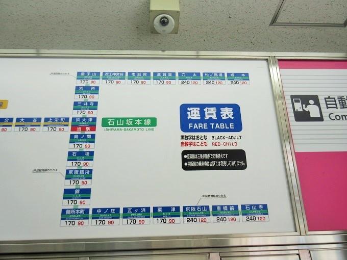 京阪大津線運賃表