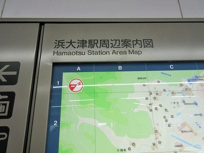 浜大津駅のままの周辺案内図
