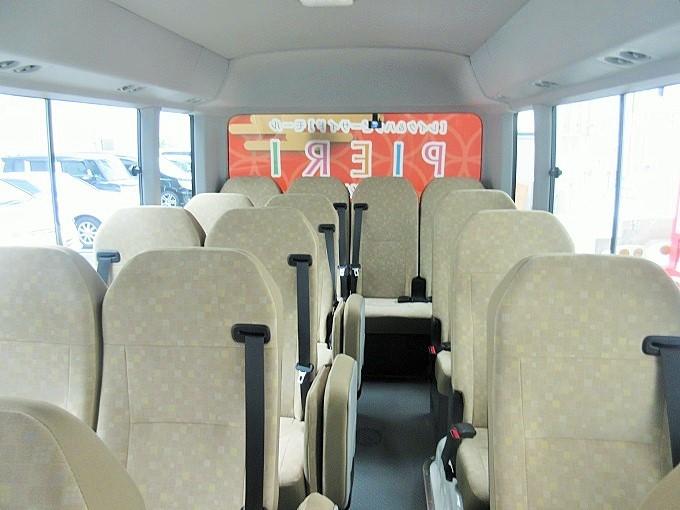 ピエリ守山のシャトルバス車内