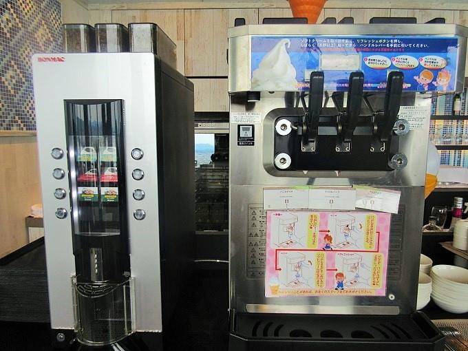 レイクビューダイニングビオナのソフトクリーム製造機