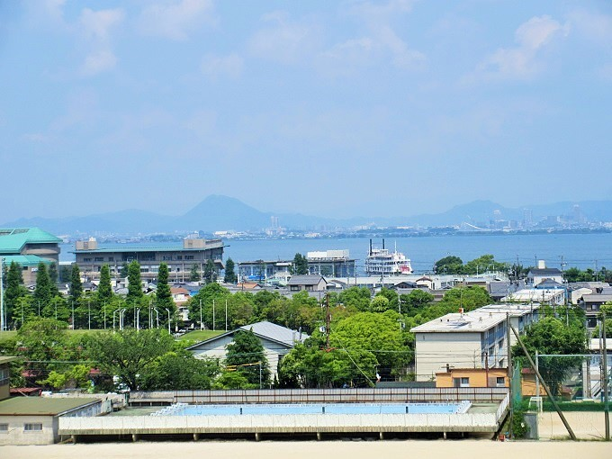 大津市歴史博物館からの眺め