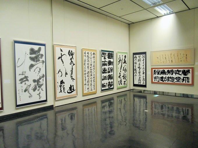 大津市歴史博物館の書道の展示