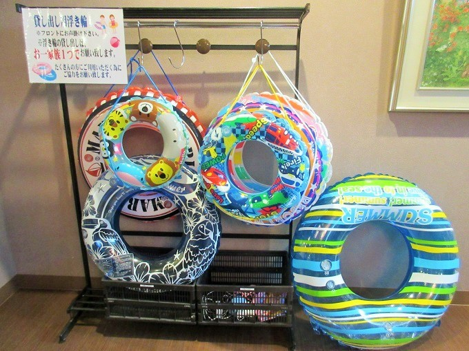 琵琶湖グランドホテルの貸し出し浮き輪