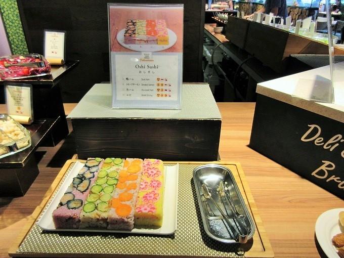 京都タワーテラスのランチバイキング・押し寿司