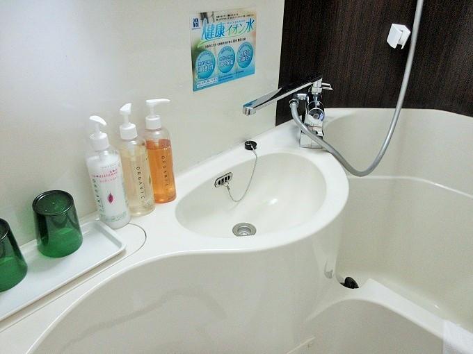 スーパーホテル大津駅前の洗面所