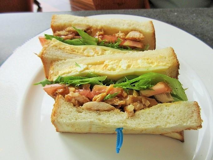 びわ湖大津プリンスホテル 近江黒鶏のサンドイッチ