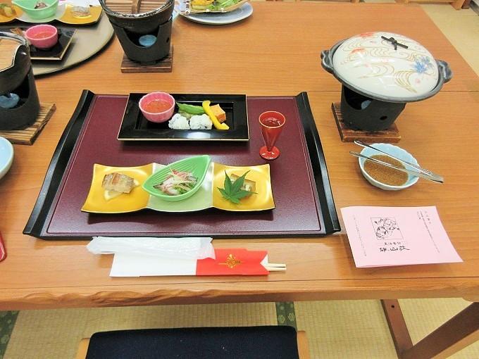 雄山荘の夕食