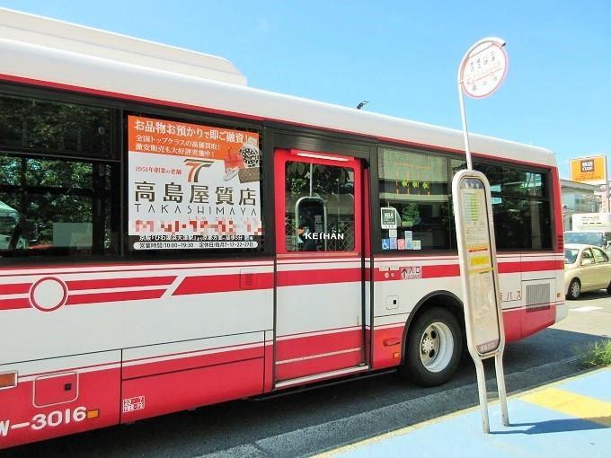 義仲寺前と京阪バス
