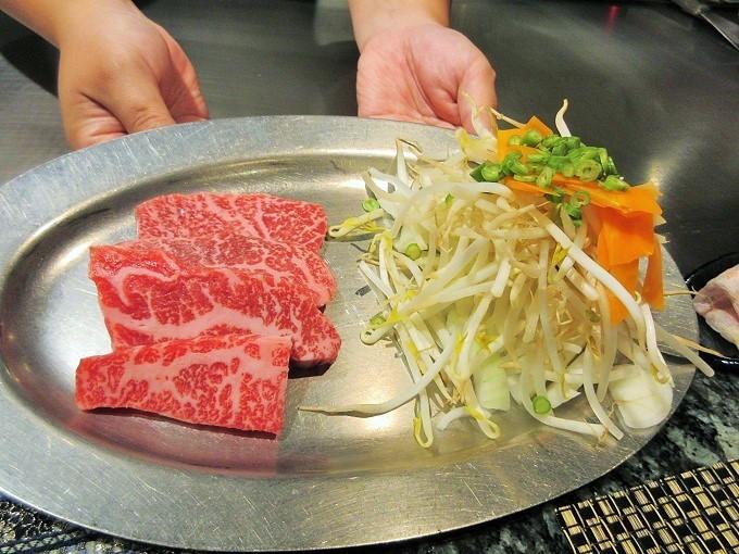 れすとらん松喜屋のお肉と野菜