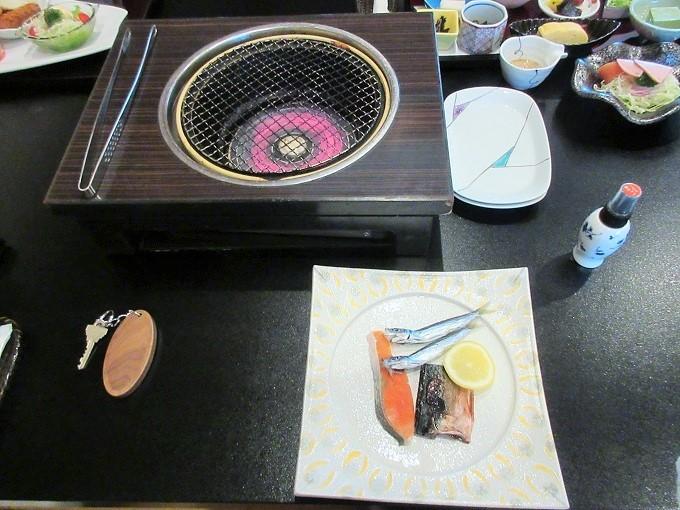 びわこ緑水亭の朝食の干物