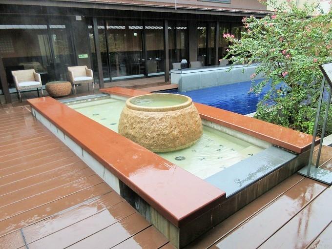 びわこ緑水亭の足湯