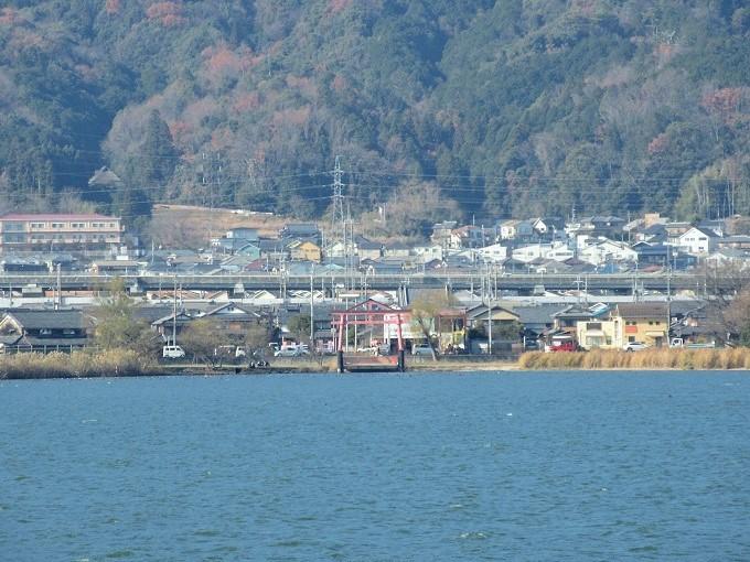 megumiから見た日吉大社の鳥居