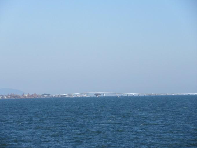 megumiから見た琵琶湖大橋