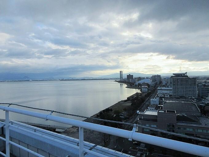 琵琶湖ホテル屋上からの眺め