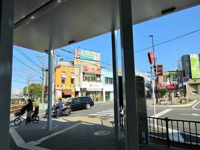 膳所駅から見るカモガワベーカリー