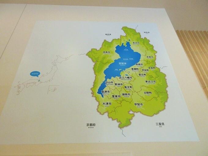 ここ滋賀の滋賀県の地図