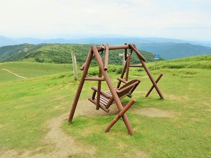 蓬莱山頂上からの眺め